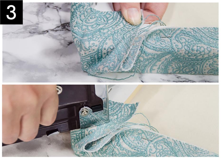 Tape 4 ramenez le tissu vers le coin comme indiqu brochez et - Lit rabattable au mur ...