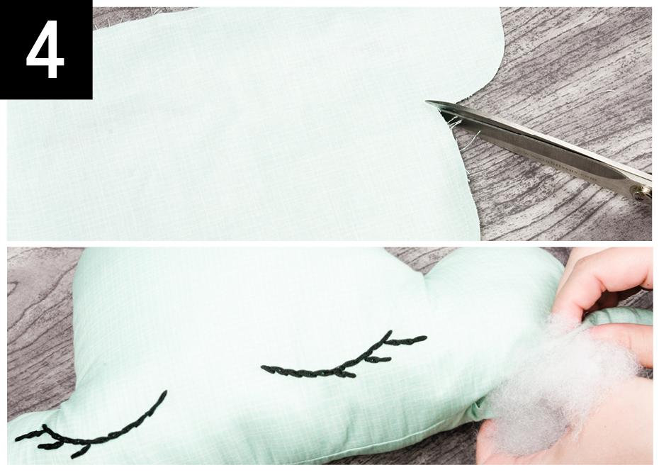Créer un coussin en forme de nuage | Clubtissus.com