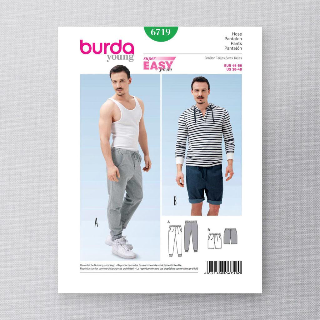 Burda 6719 pantalons pour hommes