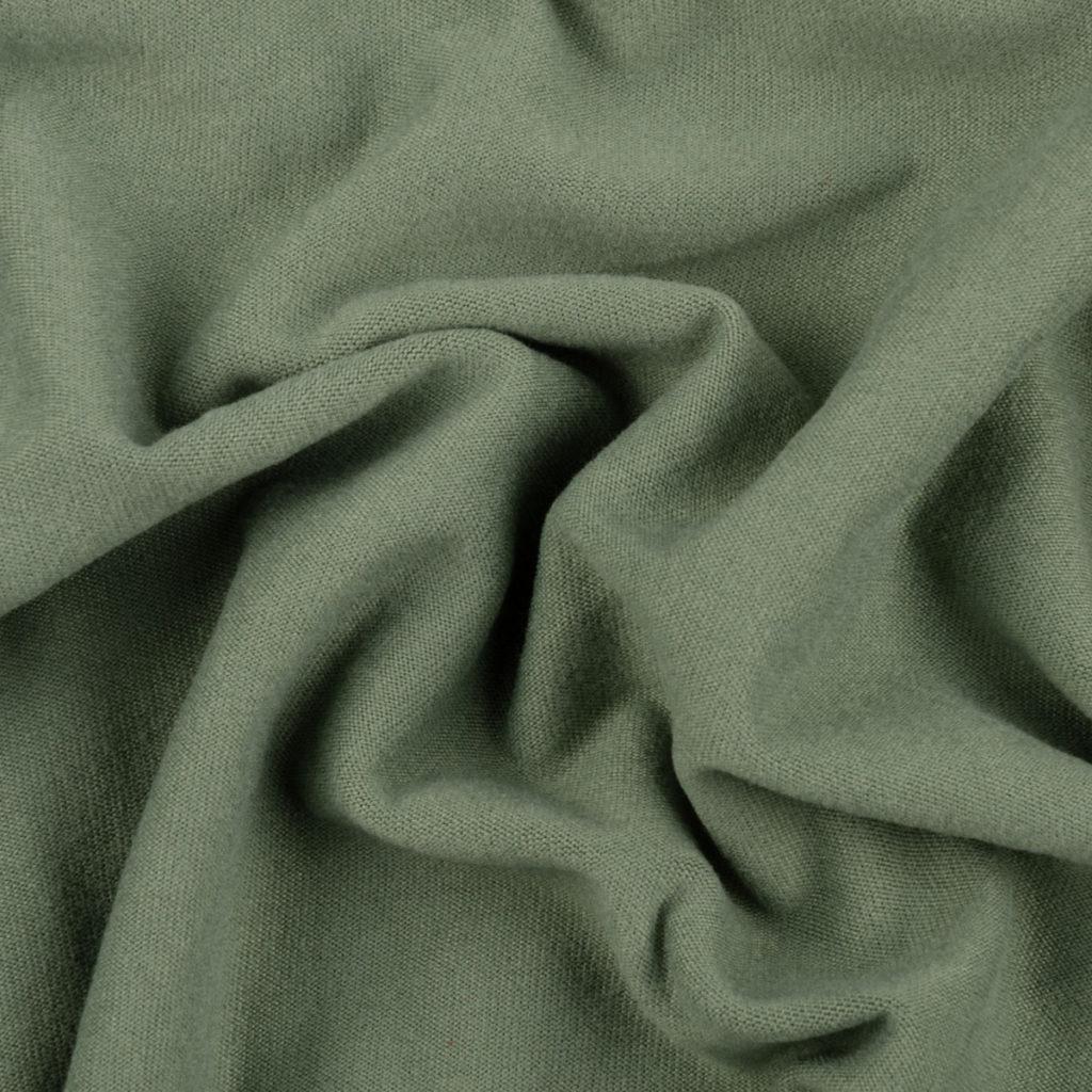 Jersey polyester brossé Lise sauge