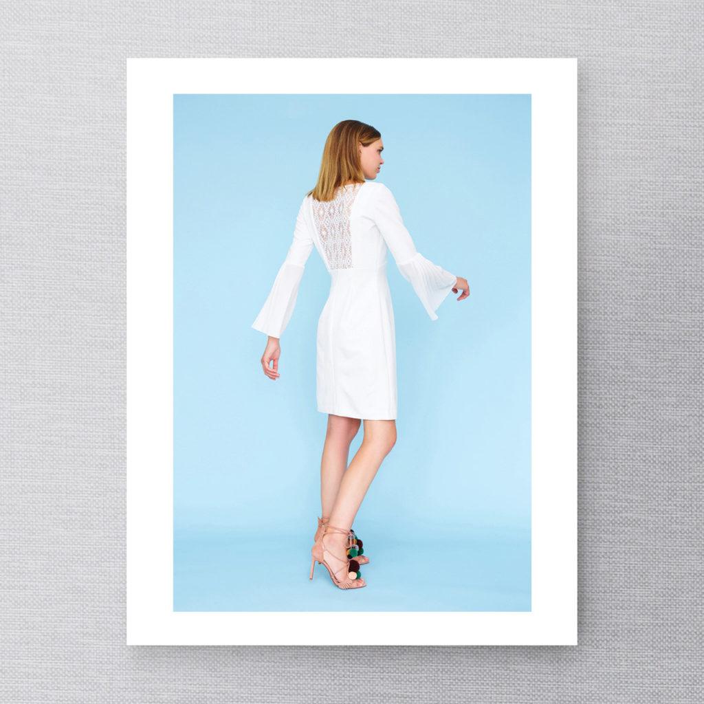 DP Studio 904 robe à manches plissées