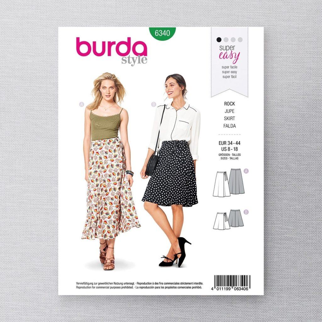 Burda 6340 jupe modèle B