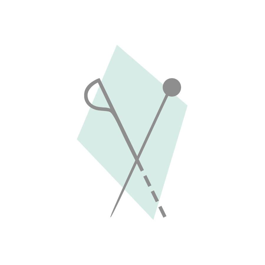 CRÊPE KOSHIBO IMPRIMÉE FLORAL - BLANC/NOIR