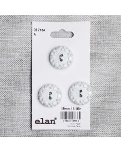 BOUTON ELAN - 18 MM 2 TROUS BLANC - ENS3