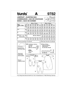 BURDA - 9782 ACCESSOIRES - SACS DE COUCHAGE