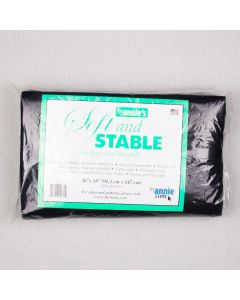 BOURRE SOFT AND STABLE 36X58PO - 100% POLYESTER NOIR