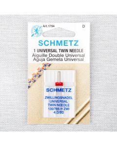 AIGUILLE UNIVERSELLE DOUBLE SCHMETZ - 80/12 40mm