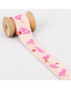 RUBAN BUSY FINGERS PAR TULA PINK 23 MM - MORNING PINK