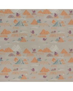 SOFTSHELL BEAVER'S TOOTH & TREES PAR KATIA - BEAVER AND MOUNTAINS TAUPE