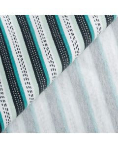 COTON OUATÉ GOTS SOFT SWEAT ROAD IN THE FOREST - TURQUOISE