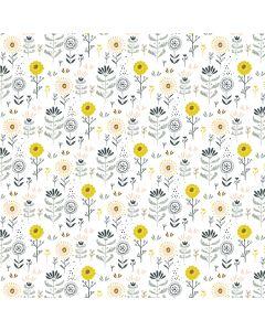 COTON WHIMSICALS PAR LISA GLANZ POUR MICHAEL MILLER - FAVORITE FLOWERS BLANC