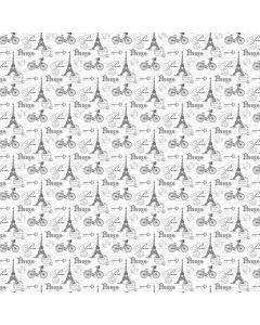 COTON OOH LA LA! PAR MICHEL DESIGN WORKS POUR NORTHCOTT - LOISIRS DE PARIS BLANC