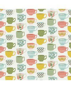 COTON TEA WITH BEA PAR KATHERINE LENIUS POUR RILEY BLAKE - TEATIME BLANC CASSÉ