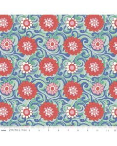 COTON THE CARNABY COLLECTION PAR LIBERTY POUR RILEY BLAKE - CARNATION CARNIVAL MENTHE