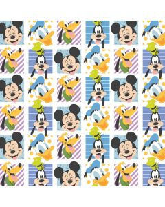 COTON PLAY ALL DAY : MICKEY MOUSE PAR CAMELOT - MM PARTY BLOCKS BLANC