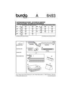 BURDA - 6493 ACCESSOIRES DE RANGEMENT DÉCOR