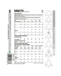 MCCALLS - M8070 HAUTS POUR FEMME/HOMME