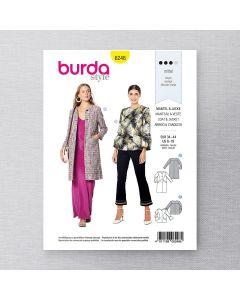 BURDA - 6248 MANTEAU ET VESTE POUR FEMME