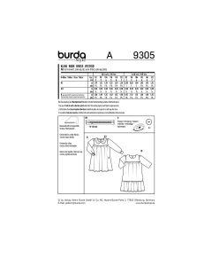 BURDA - 9305 ROBES POUR ENFANT