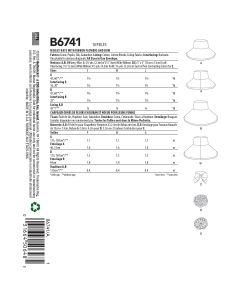 BUTTERICK - B6741 CHAPEAUX POUR FEMMES - P-G