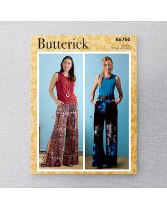 BUTTERICK - B6750 PANTALONS POUR FEMMES