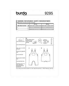 BURDA - 9295 SALOPETTES POUR ENFANT