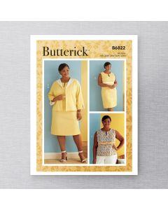 BUTTERICK - B6822 VESTE, ROBE ET HAUT POUR FEMMES