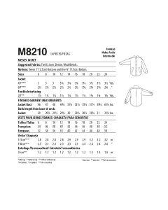 MCCALLS - M8210 VESTE POUR FEMMES