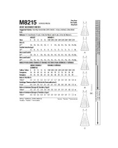 MCCALLS - M8215 ROBES POUR FEMMES