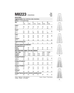 MCCALLS - M8223 PANTALONS POUR FEMMES