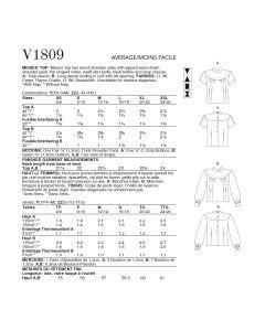VOGUE - V1809  HAUTS POUR FEMMES