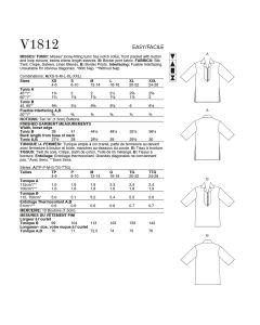VOGUE - V1812  TUNIQUES POUR FEMMES - TOUTES TAILLES