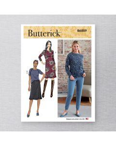 BUTTERICK - B6859 ROBE, HAUT, JUPE ET PANTALON POUR FEMMES