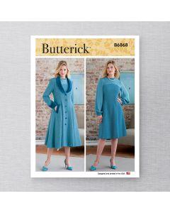 BUTTERICK - B6868 ROBE ET MANTEAU POUR FEMMES