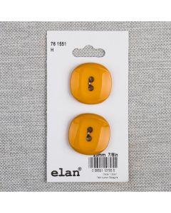 BOUTON ELAN - 23 MM 2 TROUS JAUNE - ENS2