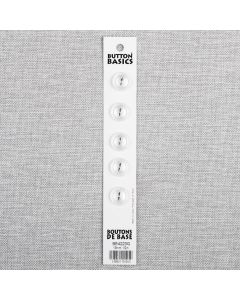 BOUTON BASICS - 13 MM 2 TROUS BLANC - ENS5